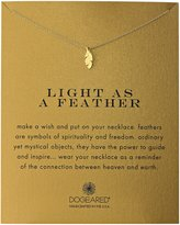 "Dogeared Reminders"" Light As A Feather Necklace, 18"""