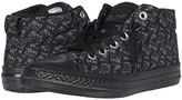 Converse Chuck Taylor(r) All Star(r) Street License Plate (Little Kid/Big Kid) (Black/Mason/Thunder Grey) Boy's Shoes