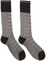 Prada Black & Brown Jaquard Socks
