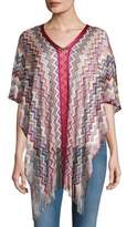 Missoni Chevron Printed Poncho