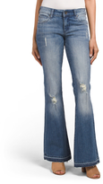 Elena Super Flare Destructed Knee Jeans
