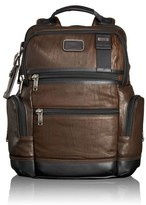 Tumi Men's 'Bravo - Knox' Leather Backpack - Brown