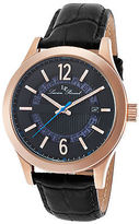 Lucien Piccard 40020-RG-01 Men's Oxford Black Genuine Leather and Dial