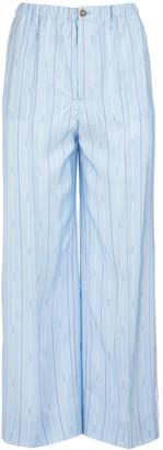 Prada Elastic Waist Striped Pants