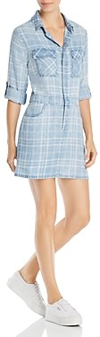 BILLY T Plaid Mini Shirt Dress
