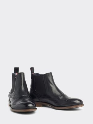 Tommy Hilfiger Casual Leather Chelsea Boots