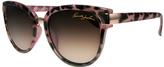 Kenneth Jay Lane Rose Tortoise Gradient Cat-Eye Sunglasses