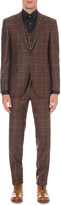 Canali Checked three-piece wool suit