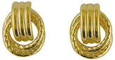 Lord & Taylor 14K Yellow Gold Door Knocker Earrings