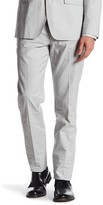Bonobos Foundation Grey Striped Trim Fit Double-Pleated Trouser