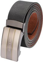 K&S KS Men's Dress Leather Belt Slide Automatic Ratchet Buckle KB032