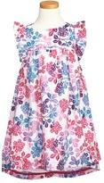 Tea Collection 'Hydrangea Garden' Ruffle Dress (Toddler Girls, Little Girls & Big Girls)