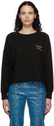 Simon Miller Black Cropped Logo Sweatshirt