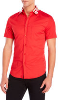 Love Moschino Short Sleeve Logo Collar Shirt