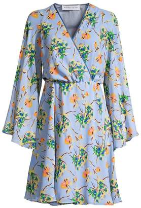 Etro Painted Floral Silk Dress