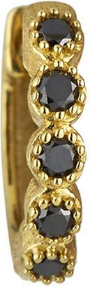 Jude Frances 18K Petite Black Diamond Bezel Hoop Earring, Single