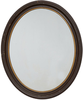 Rejuvenation Classical Oval Mirror w/ Carved Mahogany Frame