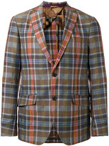 Etro plaid blazer - men - Silk/Cotton/Linen/Flax/Cupro - 48