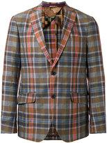 Etro plaid blazer - men - Silk/Cotton/Linen/Flax/Cupro - 48
