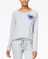 Jenni by Jennifer Moore Heart-Appliquéd Pajama Top, Only at Macy's