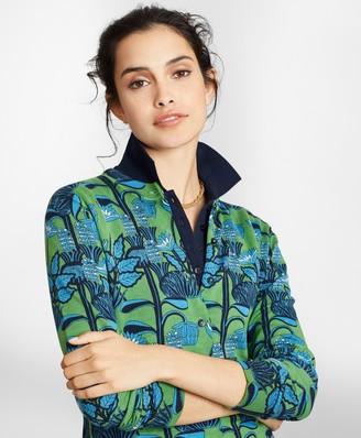 Brooks Brothers Floral-Print Supima Cotton Cardigan