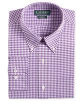 Lauren Ralph Lauren Men's Classic-Fit Non-Iron Purple Gingham Dress Shirt
