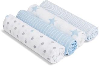 Aden Anais aden by aden + anais SwaddlePlus 4-pk. Baby Boy Muslin Blankets