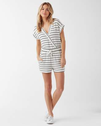 Splendid Supersoft Shorts Striped Jumpsuit