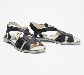 Fly London Leather Woven Sandals - Cula