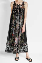 Fendi Printed Silk Maxi Dress with Coordinating Panties