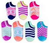 Circo Girls' Aztec Low Cut Sock 7 pk Multicolored
