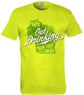 """Big & Tall Wisconsin """"Out Drinking Your State"""" Tee"""