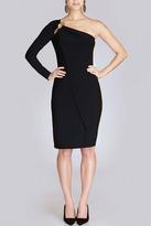 Josie Natori Jersey One Sleeve Dress