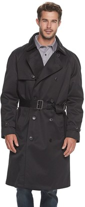 Ike Behar Big & Tall Rawlins DB Traditional Trench Coat
