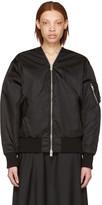 Yang Li Black Zipped Bomber Jacket