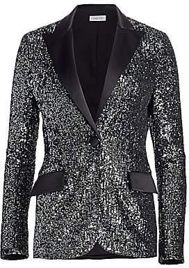 Teri Jon by Rickie Freeman Women's Sequin Tuxedo Jacket
