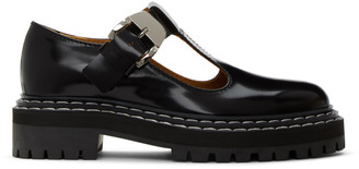 Proenza Schouler Black Lug Sole Mary Jane Oxfords