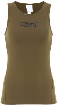 Reebok x Victoria Beckham Logo stretch-jersey tank top