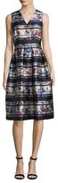 LK Bennett Doctor Liandra Brush Flared Dress