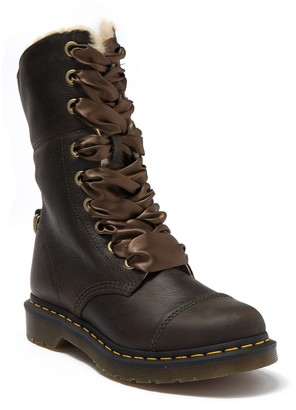 Dr. Martens Aimilita Faux Fur Lined Leather Combat Boot