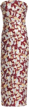 J. Mendel J.Mendel J.mendel Strapless Metallic Silk-blend Jacquard Midi Dress