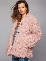 Pea Collection Super Soft Faux Fur Maternity Jacket