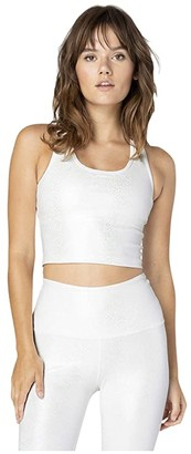 Beyond Yoga Viper First Class Cropped Tank (White Viper) Women's Clothing