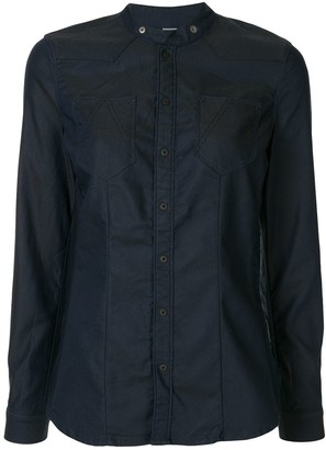 G Star Mandarin Collar Denim Shirt