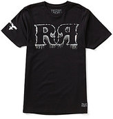 "Rock Revival Dripping Wet Double ""R"" Foiled Logo Short-Sleeve Crew Neck Graphic Tee"
