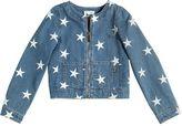 Moschino Star Embroidered Stretch Denim Jacket