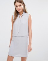 Fashion Union Layered Sleeveless Dress With Tie Up Front