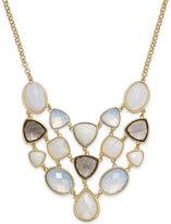 Charter Club Gold-Tone White Stone Bib Necklace