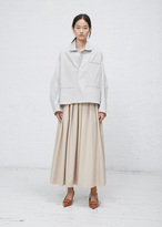 Hed Mayner White / Grey Pinstripe Falling Backwards Pajama Shirt