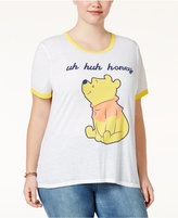 Freeze 24-7 Trendy Plus Size Winnie-The-Pooh Graphic T-Shirt